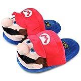 Zapatillas de casa de felpa Super Mario y Luigi - Cariño caliente para el hogar - Zapatillas...