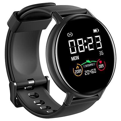 IOWODO Smartwatch Hombre Mujer con Oxímetro(SpO2), Reloj Inteligente Impermeable 5ATM con...