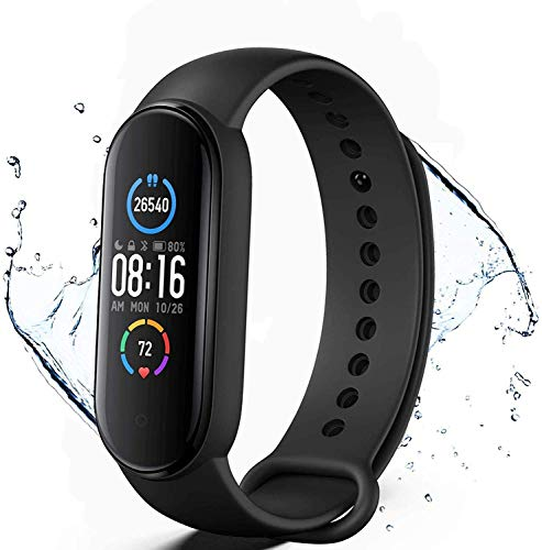Pulsera de Actividad física M5,Reloj Inteligente con Oxígeno Sanguíneo Presión Arterial...