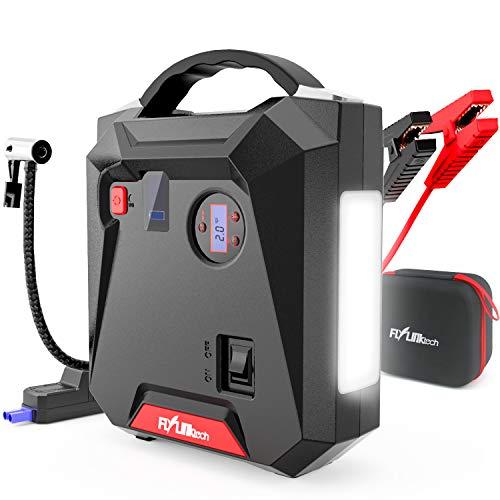 FLYLINKTECH Arrancador de batería de Coche con compresor de Aire, arrancador de Coche Profesional...