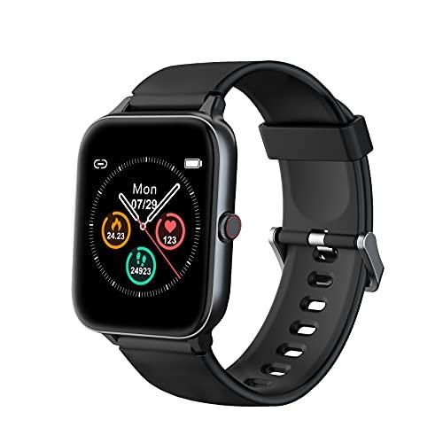IOWODO Smartwatch, Reloj Inteligente Hombre Mujer con 1.5' Táctil Completa 5ATM para Pulsómetro,...