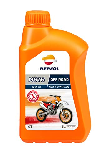 REPSOL Moto Off Road 4T 10W-40 Aceite De Motor Para Moto, 1L