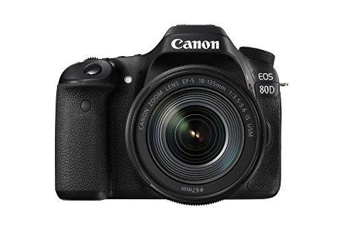 Canon EOS 80D - Cámara réflex digital de 24.2 MP (pantalla táctil de 3', video Full HD, enfoque...