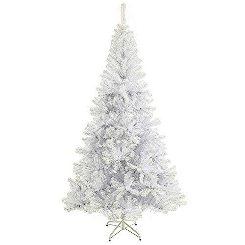 SunJas Árbol de Navidad Artificial Pino 120/150/180/210CM Árbol Espeso y Lujo Verde/Blanco/Nevado...