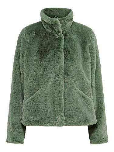 Only ONLVIDA Faux Fur Jacket OTW Noos Chaqueta, Deep Lichen Green, XS para Mujer