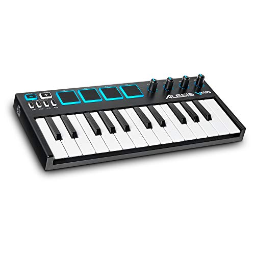 Alesis V-Mini - Teclado Controlador USB MIDI portátil 25 teclas, 4 almohadillas sensibles...