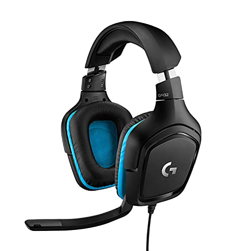 Logitech G432 Auriculares Gaming con Cable, Sonido 7.1 Surround, DTS Headphone:X 2.0, Transductores...