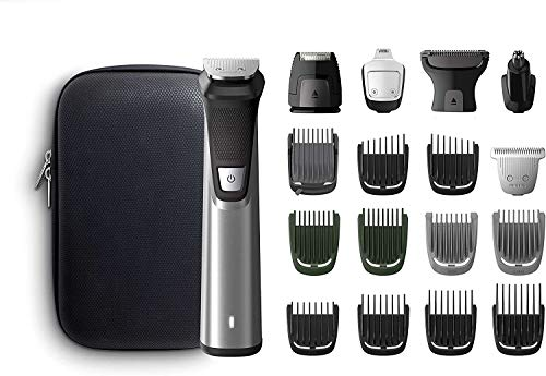 Philips MULTIGROOM Series 7000 MG7770/15 - Afeitadora recargable (Negro, Plata, Rectángulo, Barba,...