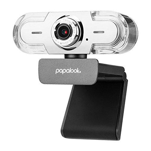 PC Webcam 1080P, PAPALOOK PA452 Pro Web Camera Videollamadas Full HD con Micrófono, Enfoque Manual...