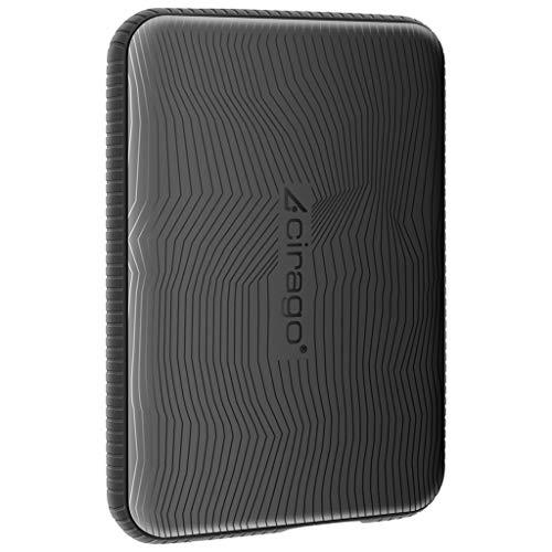 CIRAGO 1TB Disco Duro Externo Portátil Resistente a los Golpes, 2.5 Inch USB 3.0, para PC, Mac,...