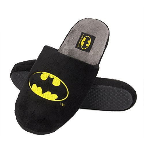 soxo Batman Zapatillas de Casa para Hombre | Talla 41-42 | Cómodas Babuchas Afelpadas | Suela...