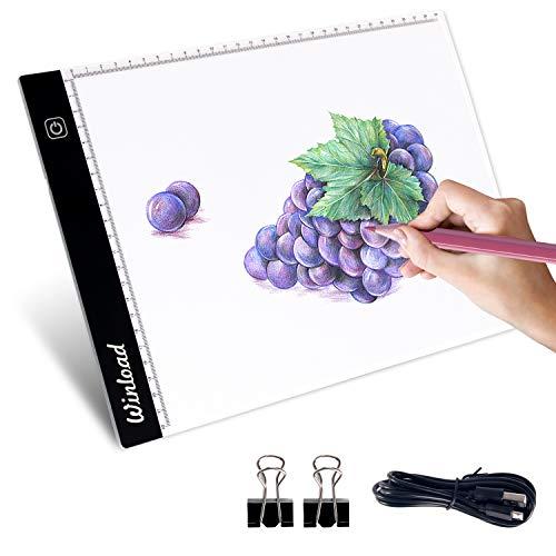 Winload Mesa de Luz Dibujo A4, 3,5 mm Delgado Copia de la Junta, Brillo Ajustable LED Tableta,...