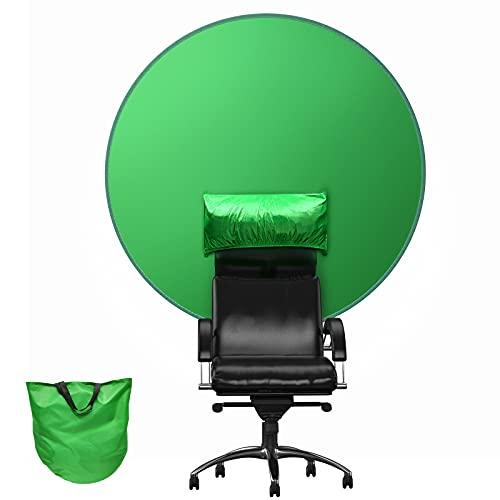 BANNIO Fondo Fotografia Pantalla Verde,Green Screen Croma Verde Plegable,Fondo Verde Croma 56in...