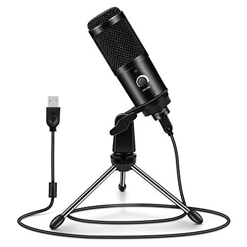 Micrófono PC, ARCHEER Micrófono USB Condensador Profesional con Soporte de Trípode para...