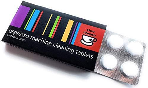 Cino Cleano - Pastillas limpiadoras para cafeteras italianas