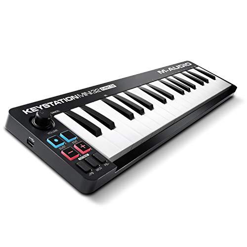 M-Audio Keystation Mini 32 MK3 - Mini Teclado Controlador MIDI / USB de 32 teclas Ultra portátil...