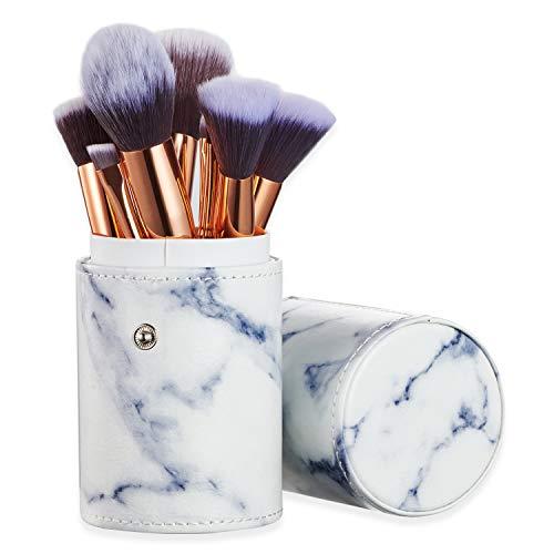 Set de brochas de maquillaje profesional Ruesious 10 piezas Pinceles de maquillaje Set Premium...