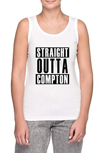 Erido Straight Outta Compton - Camiseta de tirantes para mujer, color blanco blanco S