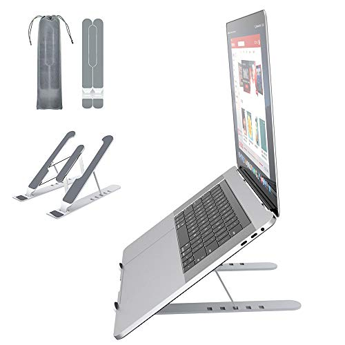 Soporte Portátil Mesa 6 Ángulos Ajustables, Plástico ABS+silicona+aleación de aluminio, Soporte...