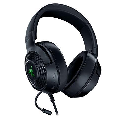 Razer Kraken X USB - Auriculares Gaming con sonido envolvente digital 7.1, micrófono cardioide...