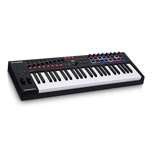 M-Audio Oxygen Pro 49 - Teclado controlador MIDI USB de 49 teclas con pads de ritmos, perillas,...