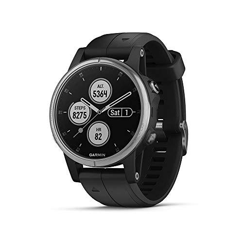 Garmin Fenix 5S Plus - Reloj GPS multideporte, color negro