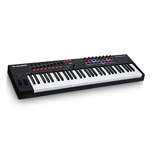 M-Audio Oxygen Pro 61 - Teclado controlador MIDI USB de 61 teclas con pads de ritmos, perillas,...