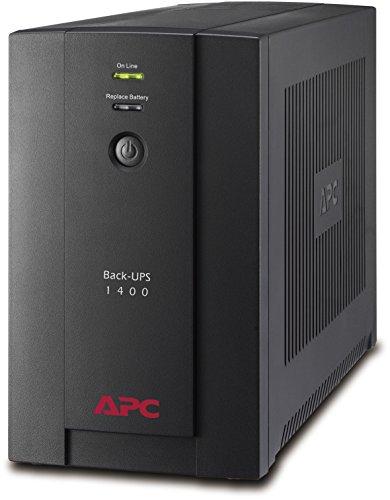 "APC BX1400U-GR Back-UPS BX - Sistema de alimentación ininterrumpida SAI 1400VA (4 tomas ""Schuko"",..."