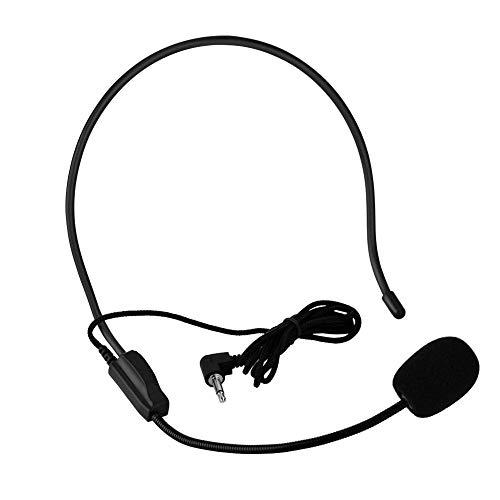 Micrófono de Diadema, Micrófono Montado en la Cabeza, Directividad Unilateral, Jack de 3.5 mm,...