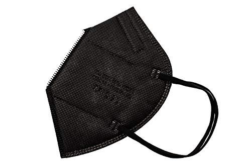 YIDA FFP2 Adult Masken, Einweg, 5 Schichten, Farbe Schwarz (C1)