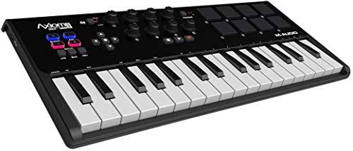 M-Audio Axiom AIR Mini 32 - Teclado controlador MIDI USB de 32 teclas sensibles a la velocidad, 8...