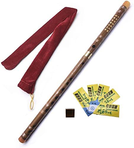 Jiayouy Flauta de bambú Dizi hecha a mano con instrumento musical chino tradicional con membrana y...