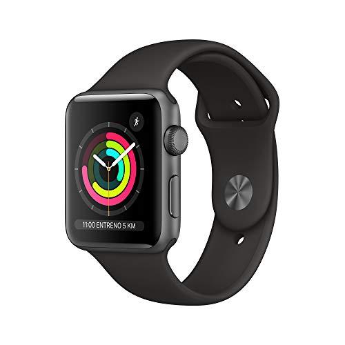 AppleWatch Series3 (GPS, 42mm) Aluminio en Gris Espacial - Correa Deportiva Negro