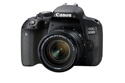 Canon EOS 800D - Cámara RÉFLEX de 24.2 MP (Pantalla táctil de 3.0'', NFC, Dual Pixel CMOS AF,...