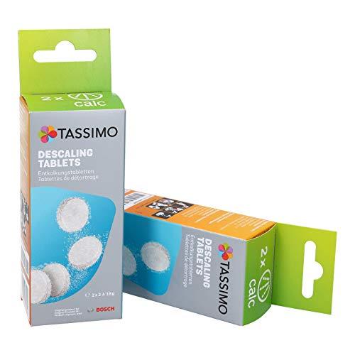 Bosch - Pastillas descalcificadoras para cafetera Tassimo, 2 unidades