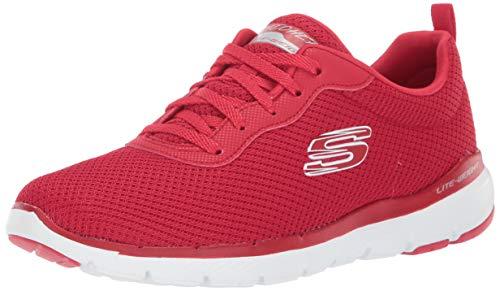 Skechers - Flex Appeal 3.0 - First Insight - Zapatillas deportivas para mujer, Rojo (Rojo), 36.5 EU