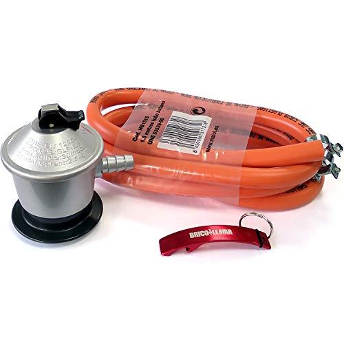 Kit Homologado de Manguera Butano y Regulador de Gas butano (CE Regulador con Certificación...
