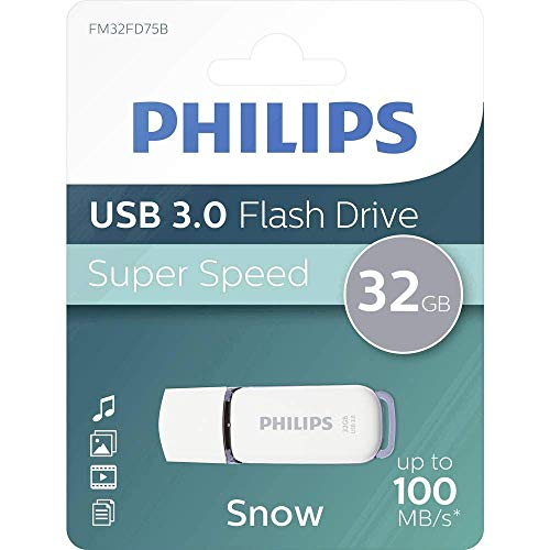 Philips SNOW Super Speed 32 GB USB Flash Drivee 3.0, Leer hasta 100 MB/s