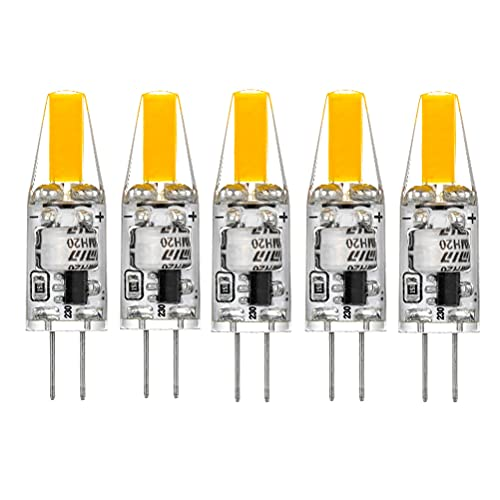 G4 LED Bombilla de COB, AC 220V 2W G4 Lámpara Equivalente a Lámpara Halógena 25W, 2700K Luz...
