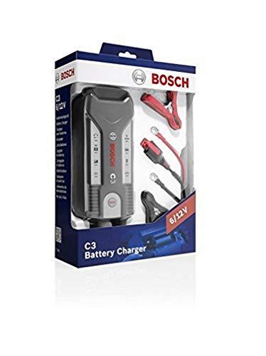 Bosch 0 189 999 03M - Cargador automático de batería Bosch C3 para 6 -12 V / 3,8 A