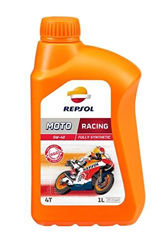 REPSOL Moto Racing 4T 5W-40 Aceite De Motor Para Moto, 1L