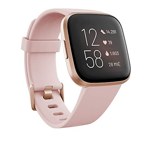 Fitbit Versa 2, Smartwatch con control por voz, puntuación del sueño y música, batería de +4...
