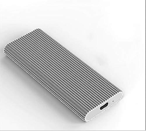 Disco duro externo de 2 TB USB 2.0 para Mac Laptop PC (2 TB, plateado)