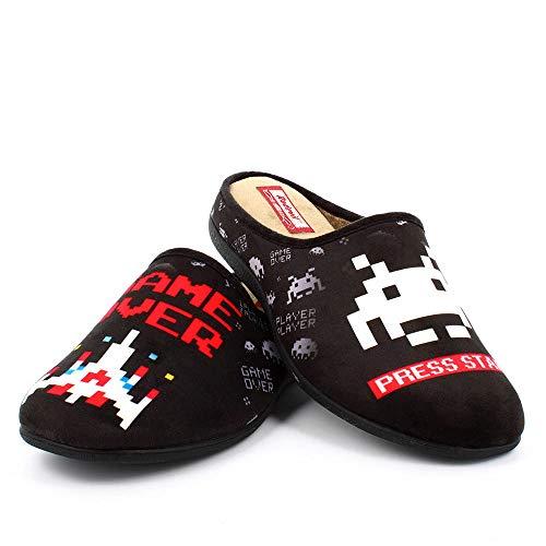 Zapatillas inspiradas en Space Invaders cómodas Andar por casa - Gamer Retro (Numeric_39)