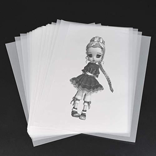 YOTINO 100 Hojas Papel de Calco A4 Transparente Papel cebolla, Escritura, Dibujo, Elegantes...