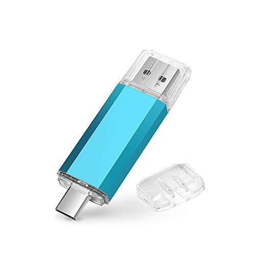 USB-C Pen Drive 64GB, 2 en 1 Tipo C Memoria USB 64 GB USB 2.0 OTG Memoria Flash Memory Stick 64GB...