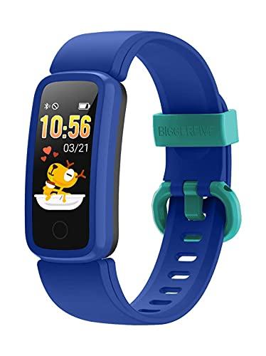 BIGGERFIVE Vigor Pulsera Actividad Inteligente Reloj Inteligente para Niños Niñas Mujer,...