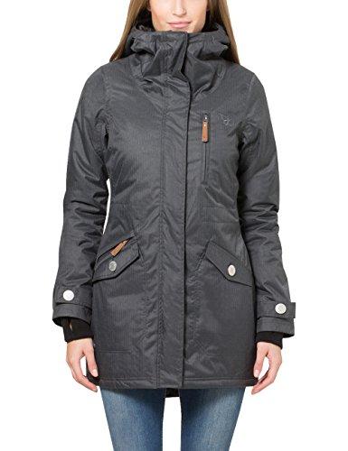 Berydale Parka para mujer con capucha y lazos para los pulgares, Gris, 34 (Talla del fabricante: XS)