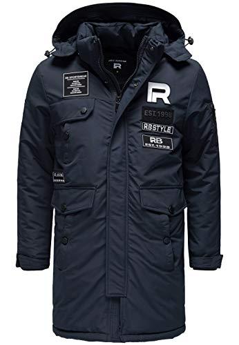Redbridge Abrigo Invernal para Hombre Chaqueta de Invierno Parka con Capucha Azul S
