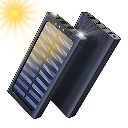 Aikove Cargador portátil Power Bank 24000mAh Batería Externa 3 Puertos USB con 2 Puertos de...